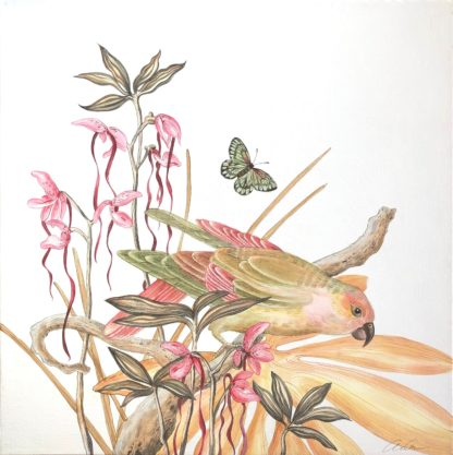 A Little Bird Told Me by Allison Cosmos, modern chinoiserie